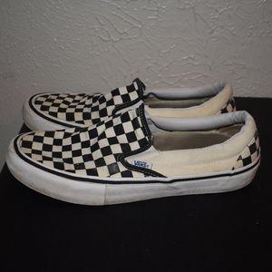 Checkered Vans slip on sz 10